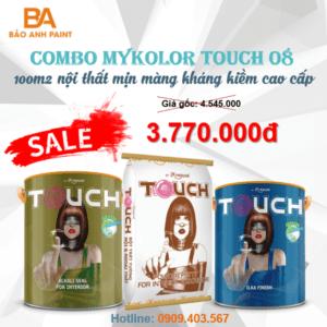 Combo Mykolor Touch 08 sơn nội thất mịn màng kháng kiềm cao cấp 1️⃣VN