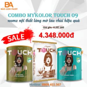 Combo Mykolor Touch 09 sơn nội thất láng mờ lau chùi hiệu quả 1️⃣VN