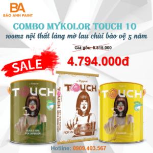 Combo Mykolor Touch 10 sơn nội thất láng mờ lau chùi hiệu quả 1️⃣VN