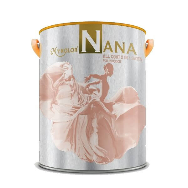 Sơn phủ nội thất đa năng Mykolor Nana All Coat 2in1 Satin For Int