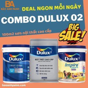 Combo Dulux 02 sơn bóng nội thất giá tốt nhất