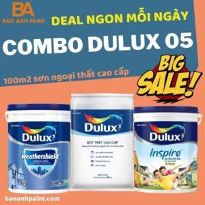 Combo Dulux 05 sơn ngoại thất giá Siêu Rẻ
